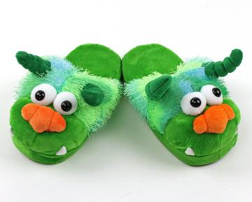 Kids Green Monster Slippers
