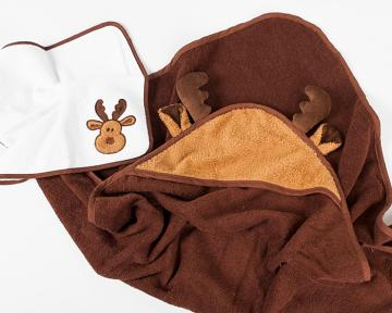 Moose Hooded Towel