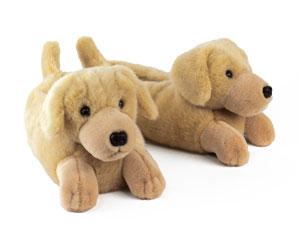 Yellow Labrador Slippers
