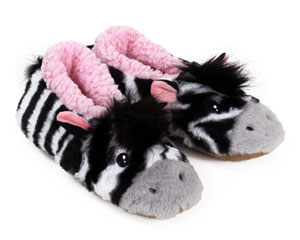 Zebra Sock Slippers