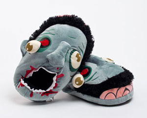 Blue Zombie Slippers
